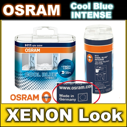 2x h11 osram cool blue intense xenon optik lampen birnen leuchtmittel 55w s z ebay. Black Bedroom Furniture Sets. Home Design Ideas
