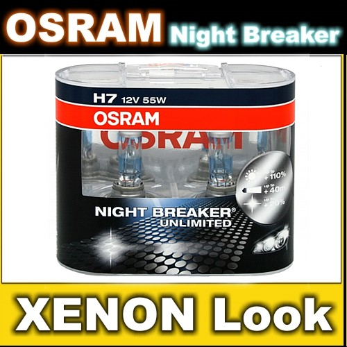 2x h7 osram night breaker unlimited xenon optik lampen birnen leuchtmittel a m ebay. Black Bedroom Furniture Sets. Home Design Ideas